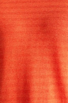 Blended silk: textured knit jumper, RUST ORANGE 5, detail