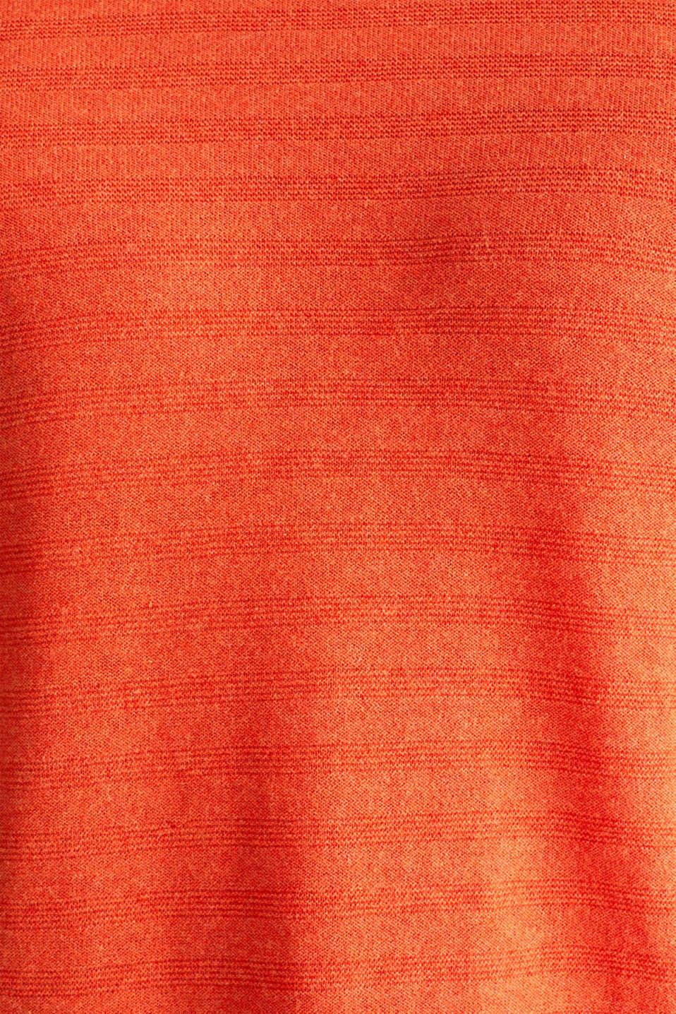Blended silk: textured knit jumper, RUST ORANGE 5, detail image number 3