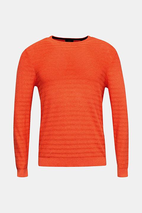 Blended silk: textured knit jumper