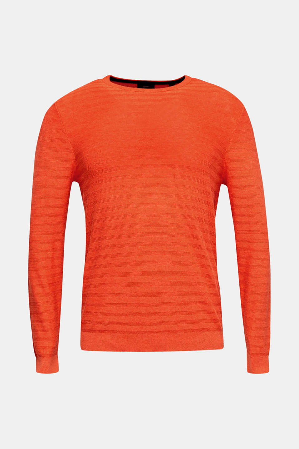 Blended silk: textured knit jumper, RUST ORANGE 5, detail image number 5