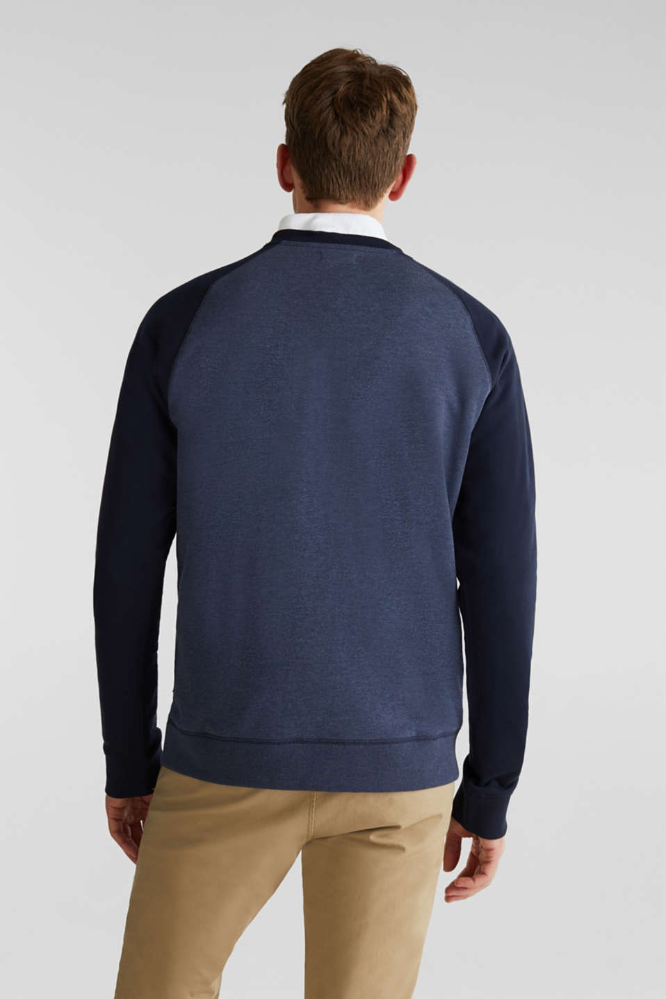 Sweatshirt with a logo print, NAVY, detail image number 3