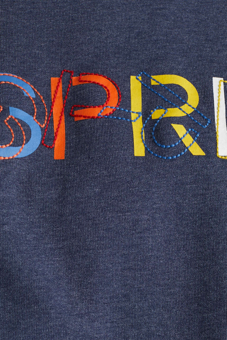 Sweatshirt with a logo print, NAVY, detail image number 4