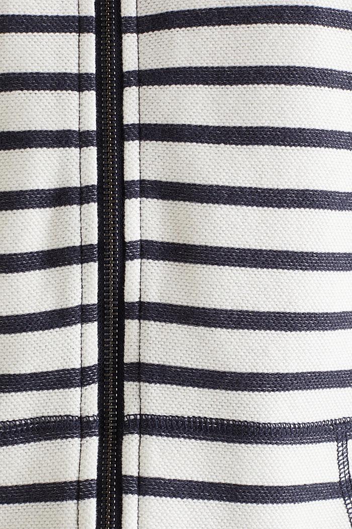 Sweat à capuche texturé 100% coton, NAVY, detail image number 0