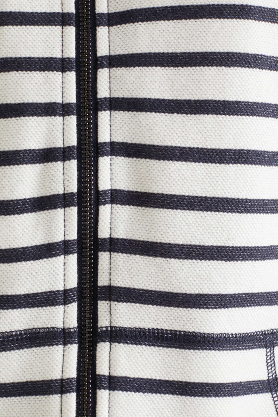 Textured hoodie in 100% cotton, NAVY 4, detail image number 3