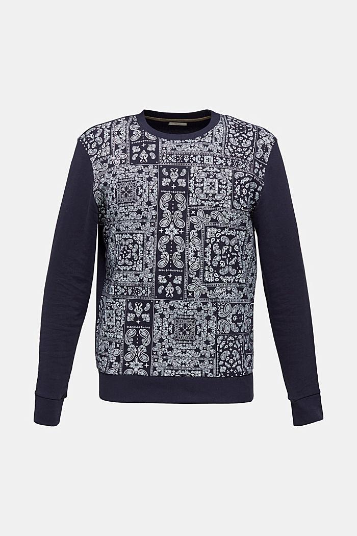 Sweatshirt mit Bandana-Print, 100% Baumwolle