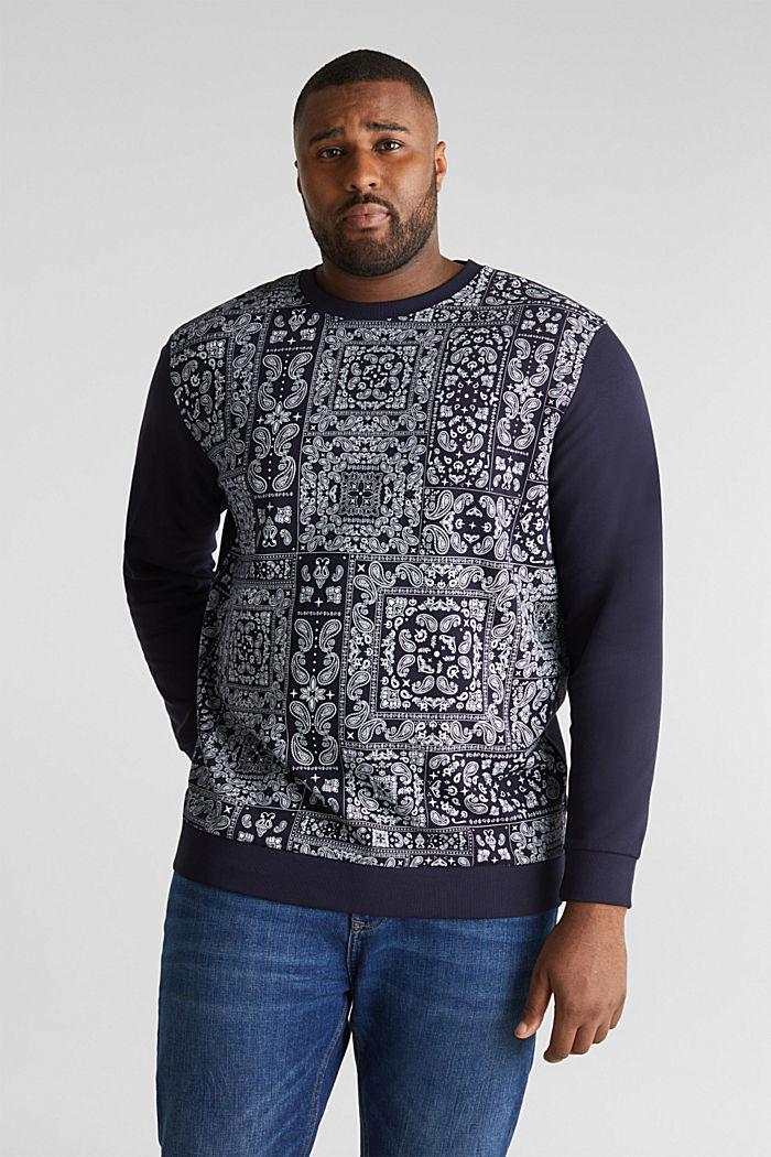 Sweatshirt mit Bandana-Print, 100% Baumwolle, NAVY, detail image number 0