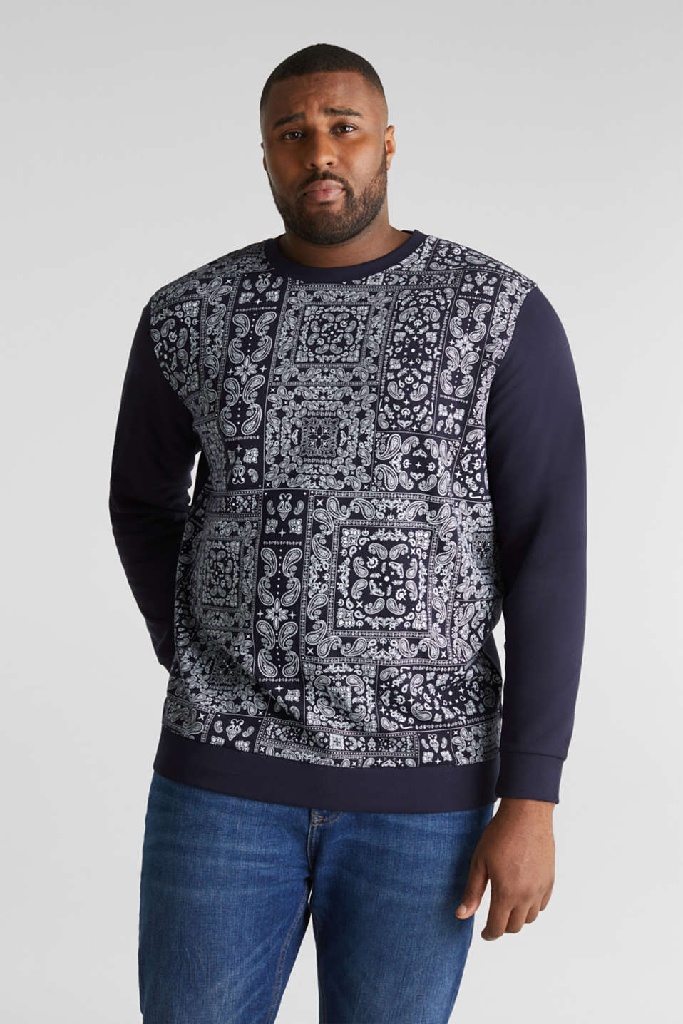 Esprit - Sweatshirt with a paisley pattern, 100% cotton