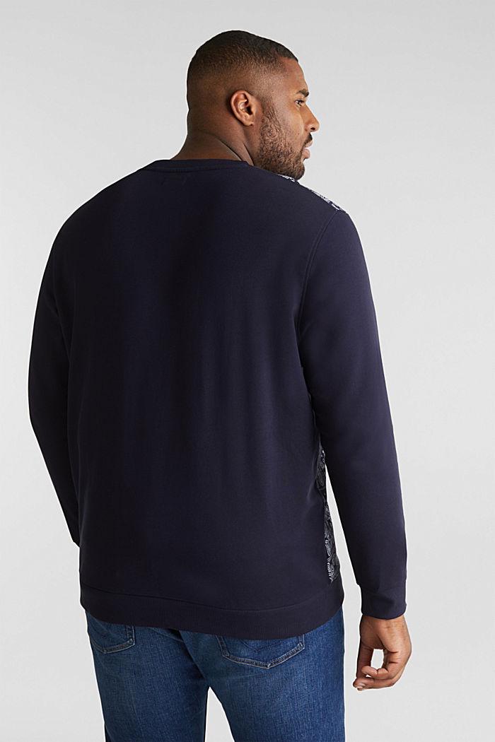 Sweatshirt mit Bandana-Print, 100% Baumwolle, NAVY, detail image number 3