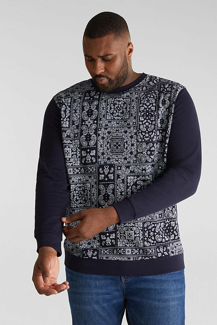 Sweatshirt mit Bandana-Print, 100% Baumwolle, NAVY, detail image number 4