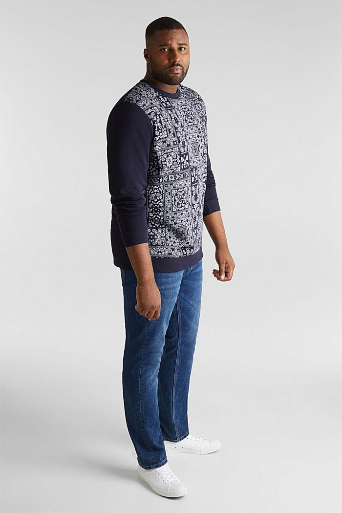 Sweatshirt mit Bandana-Print, 100% Baumwolle, NAVY, detail image number 1