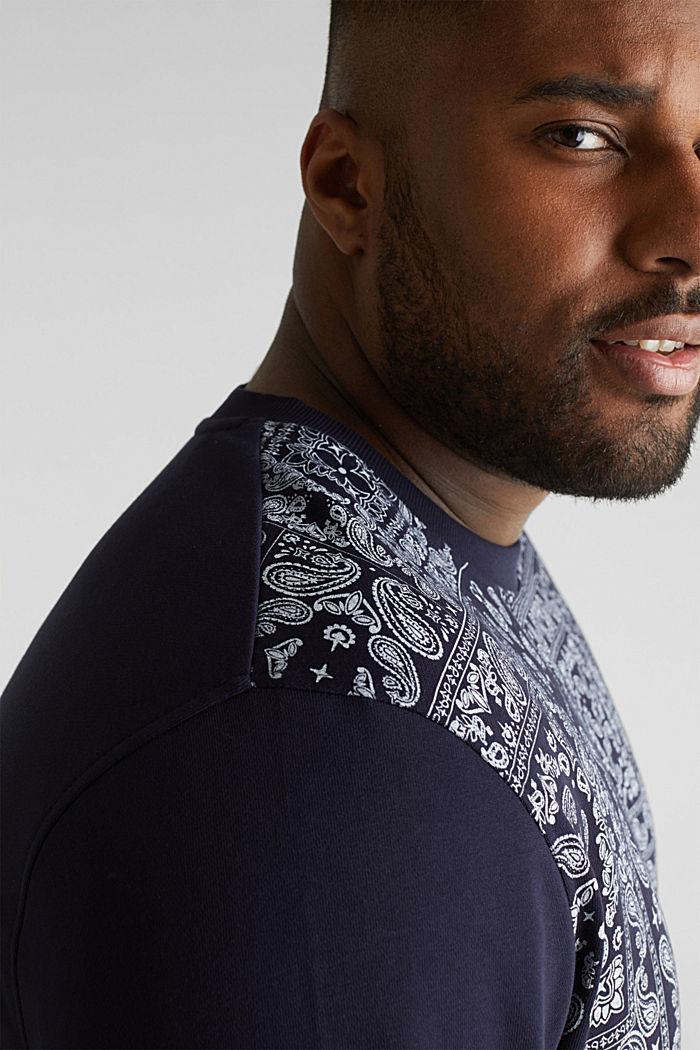 Sweatshirt mit Bandana-Print, 100% Baumwolle, NAVY, detail image number 2