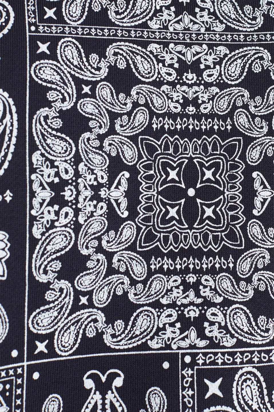 Bandana print sweatshirt, 100% cotton, NAVY 4, detail image number 5