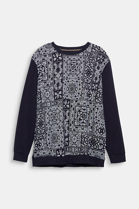 Bandana print sweatshirt, 100% cotton