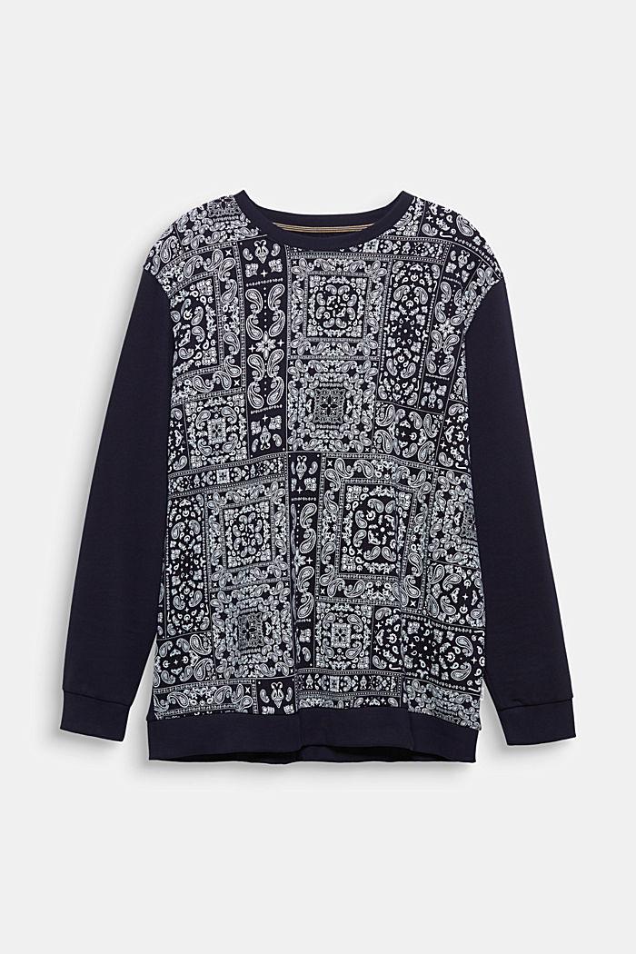 Sweatshirt mit Bandana-Print, 100% Baumwolle, NAVY, detail image number 6