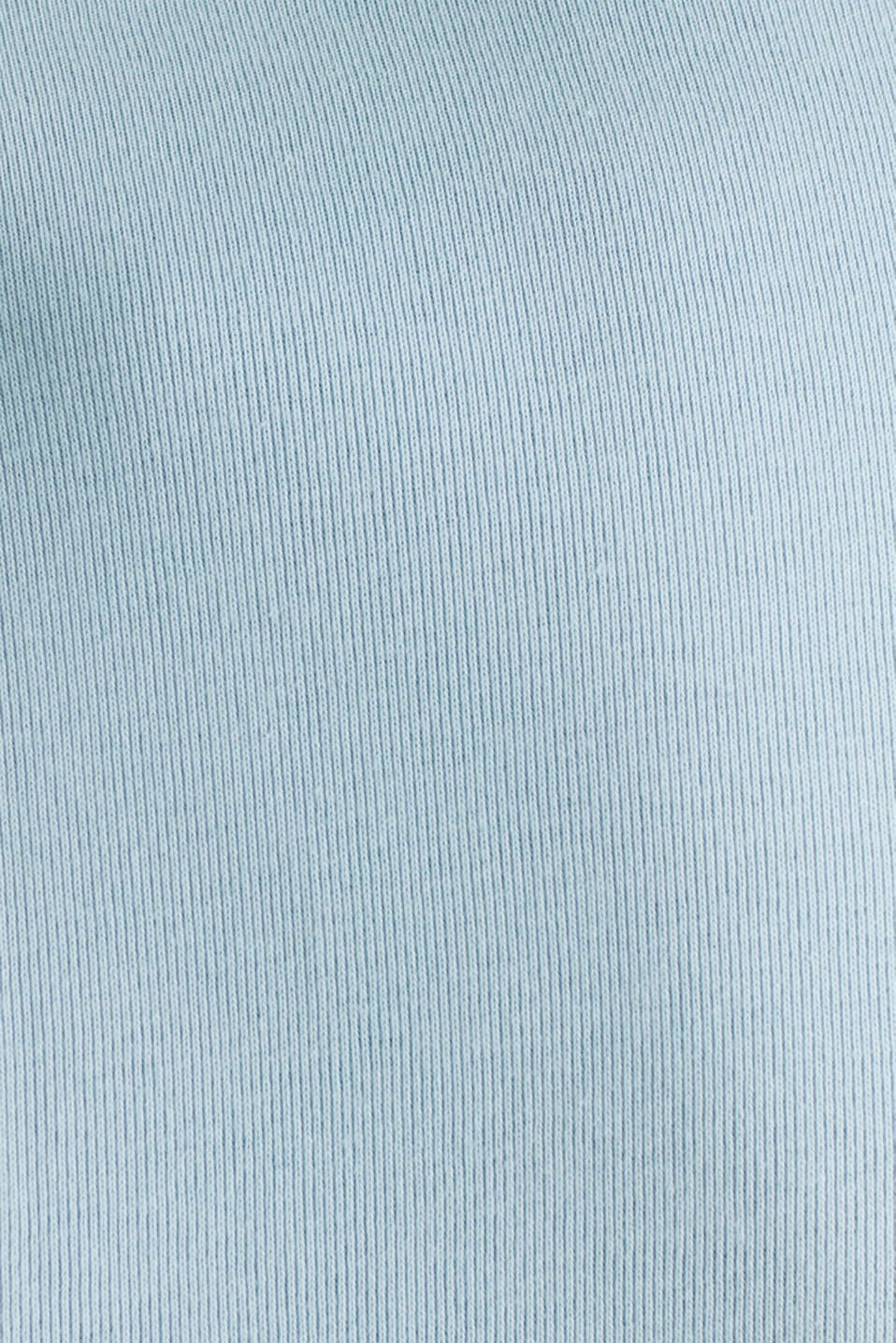 Ribbed jersey top made of 100% cotton, LIGHT BLUE, detail image number 4