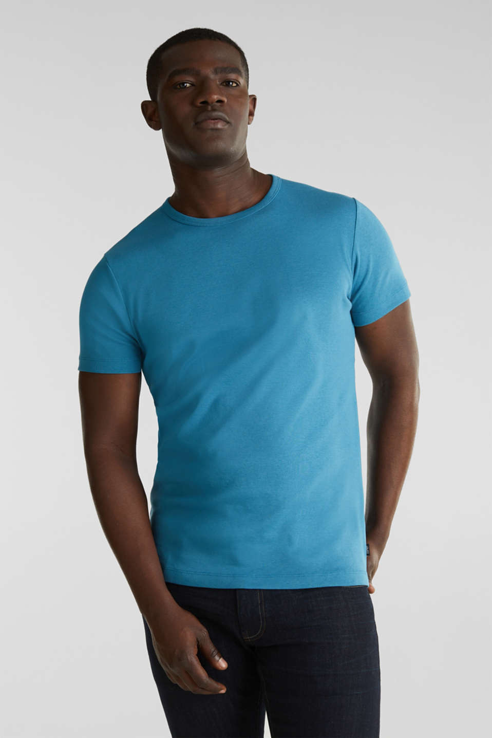 Esprit - Ribbed jersey top made of 100% cotton