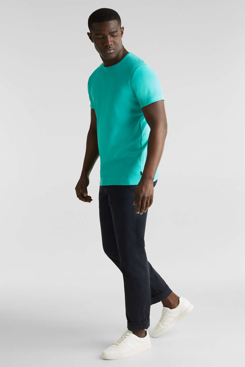 Ribbed jersey top made of 100% cotton, LIGHT TURQUOISE, detail image number 2