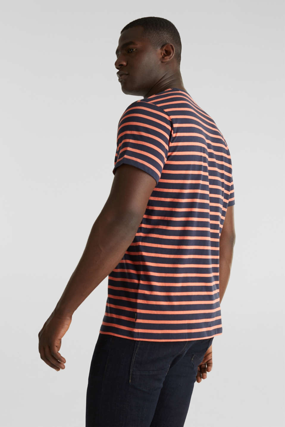 Striped jersey top, cotton, NAVY 3, detail image number 3
