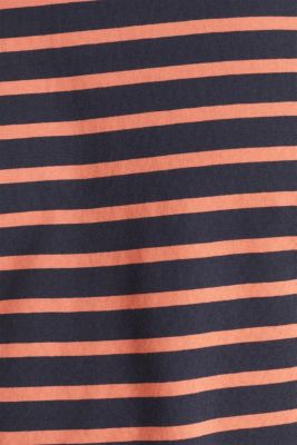 Striped jersey top, cotton, NAVY 3, detail