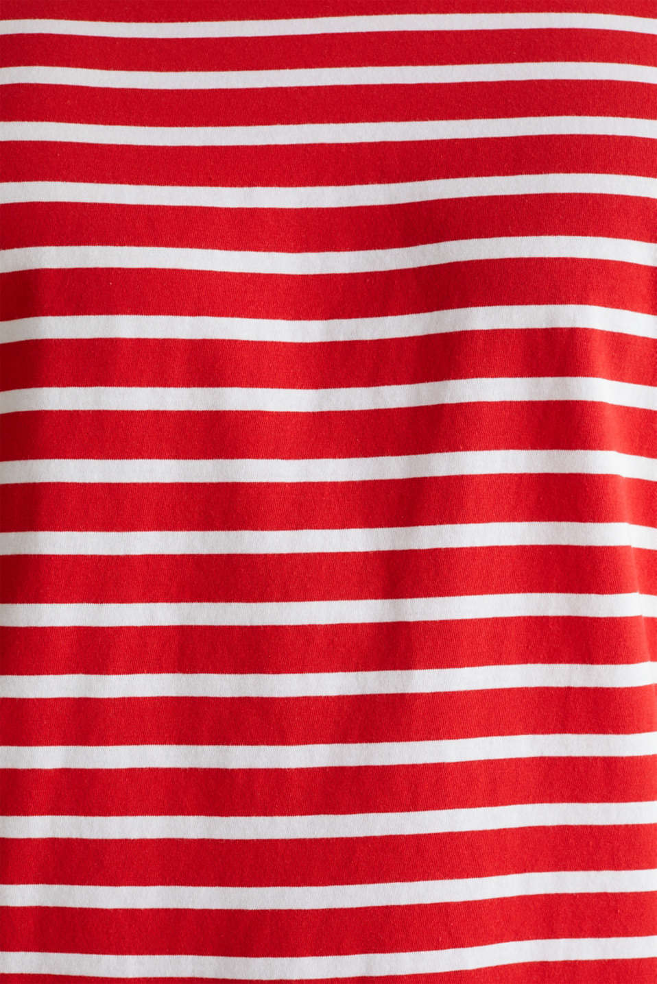 Jersey T-shirt with stripes, 100% cotton, RED 3, detail image number 3