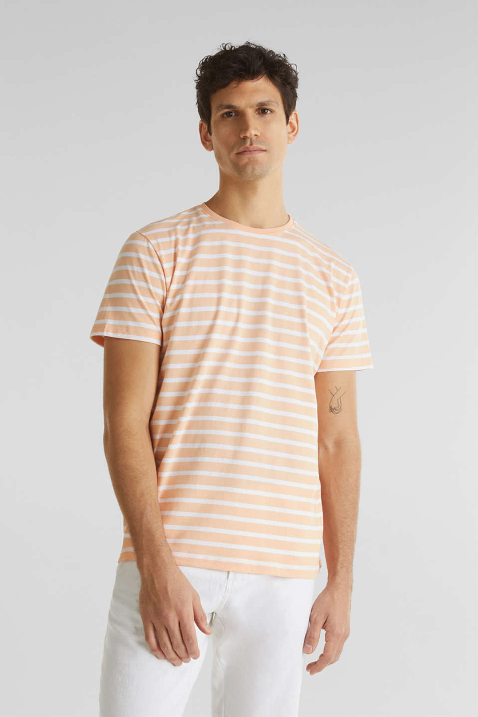 Esprit - Striped jersey top, cotton