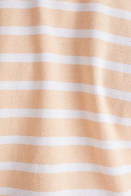 Striped jersey top, cotton, PEACH 3, detail