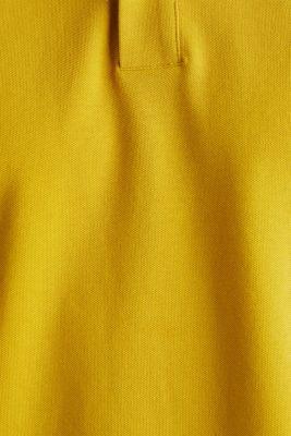 Piqué polo shirt, 100% organic cotton, CAMEL, detail