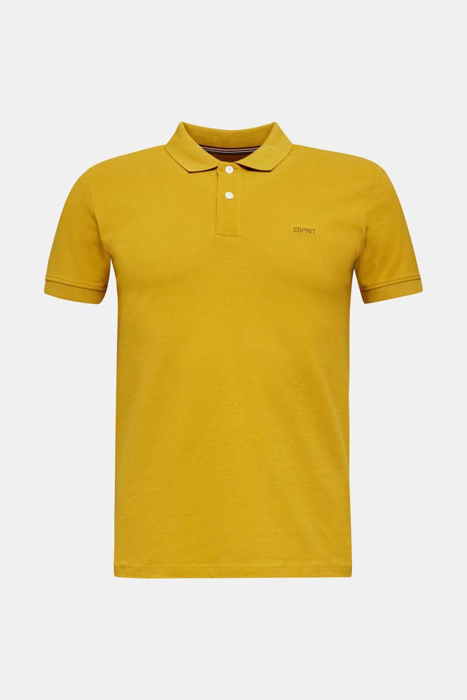 Piqué polo shirt, 100% organic cotton, CAMEL, detail image number 7