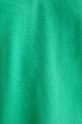 Piqué polo shirt, 100% organic cotton, GREEN, detail