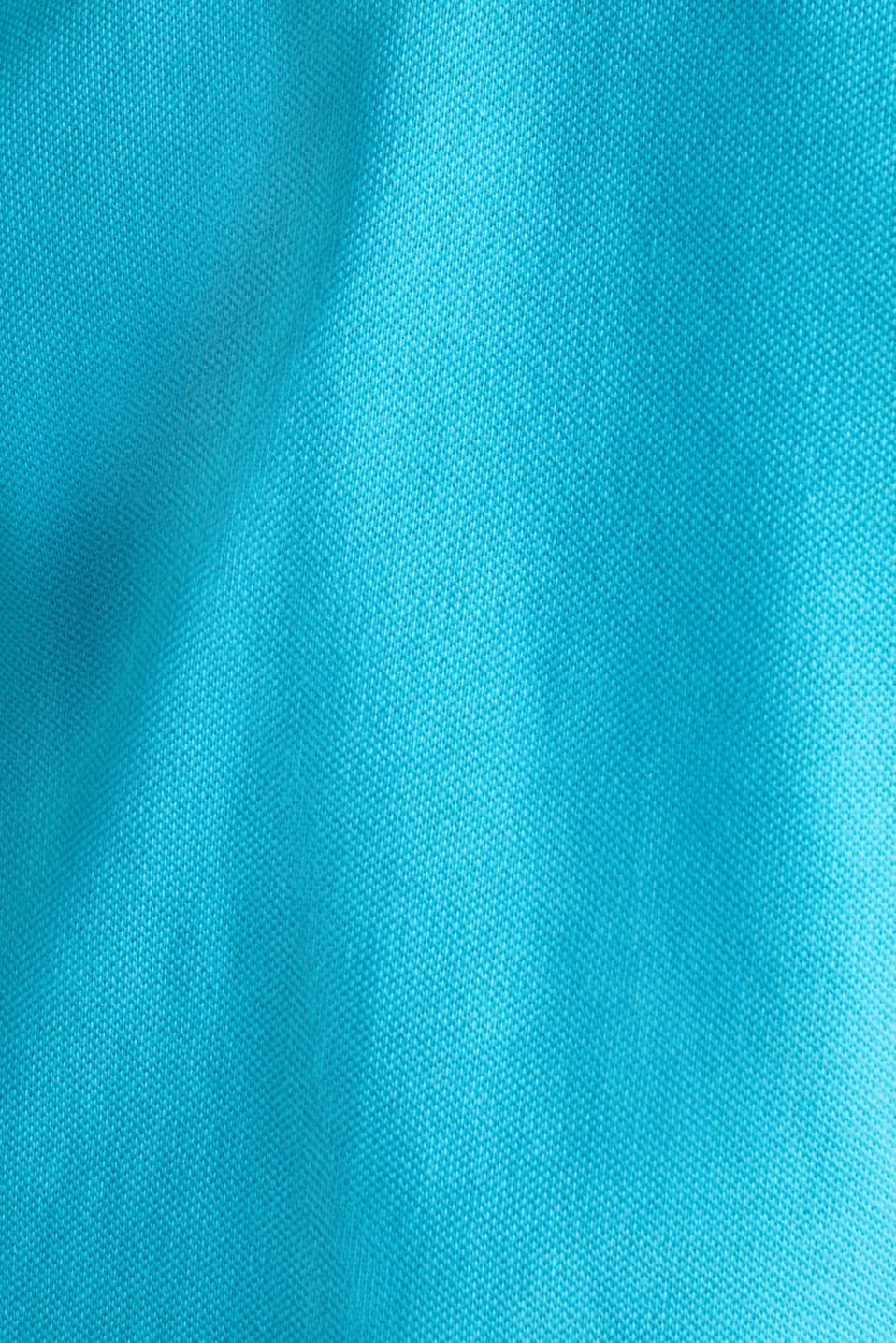 Piqué polo shirt, 100% organic cotton, AQUA GREEN, detail image number 4