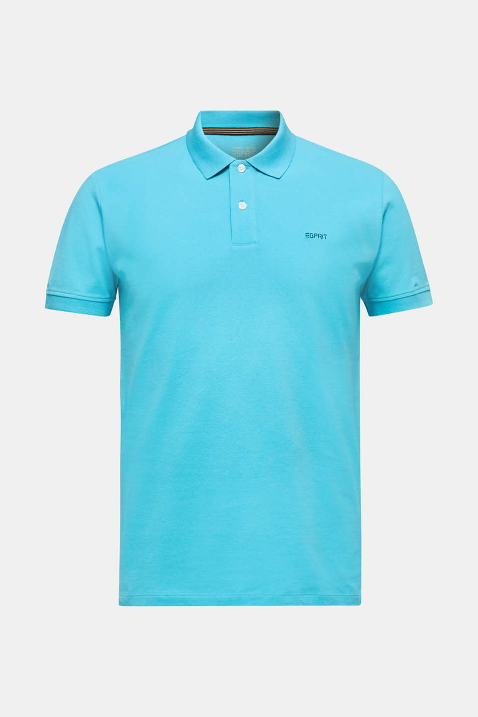 Piqué polo shirt, 100% organic cotton, AQUA GREEN, detail image number 6