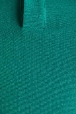 Piqué polo shirt made of 100% organic cotton, BOTTLE GREEN, detail