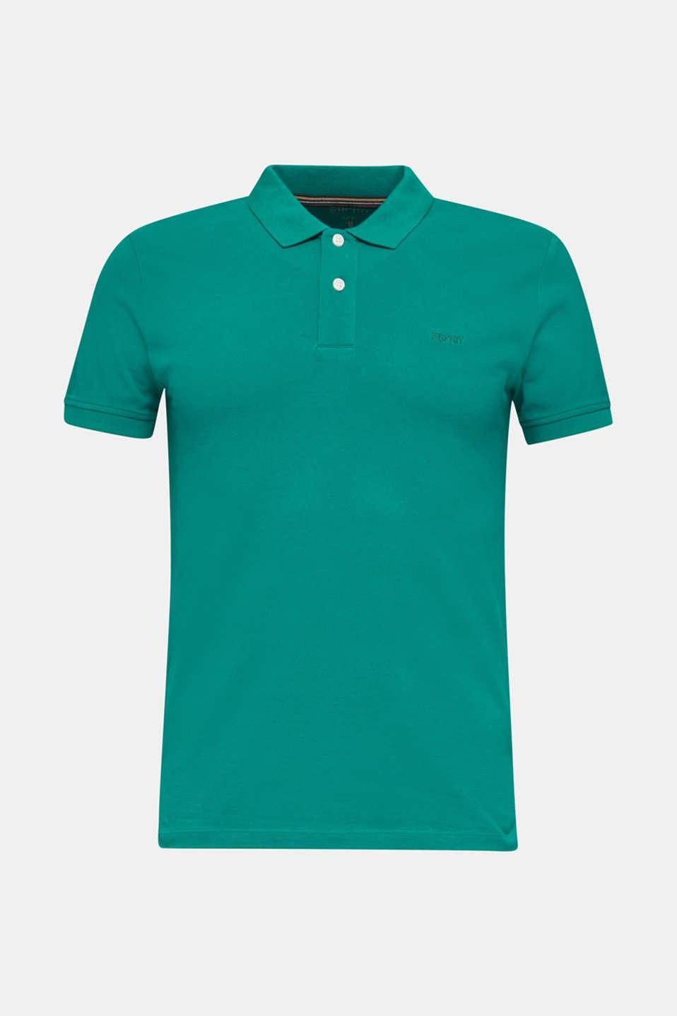 Piqué polo shirt, 100% organic cotton, BOTTLE GREEN, detail image number 7