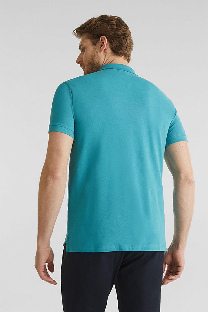 Piqué-Poloshirt, 100% Organic Cotton, TEAL BLUE, detail image number 3