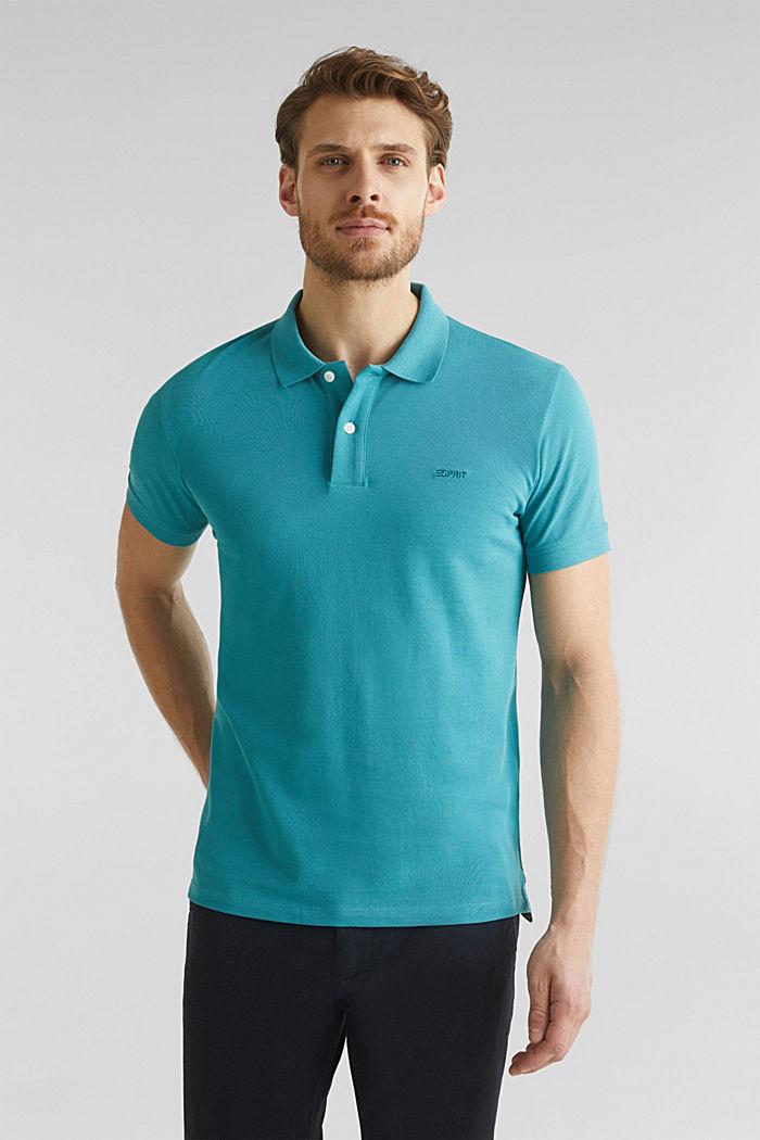 Piqué-Poloshirt, 100% Organic Cotton, TEAL BLUE, detail image number 4