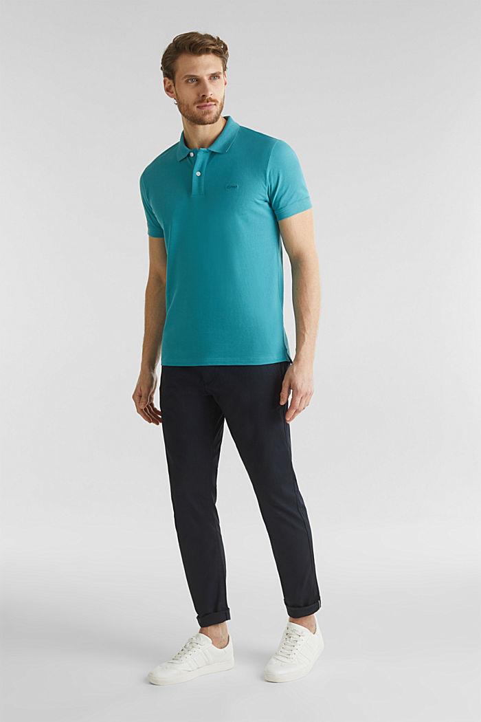 Piqué-Poloshirt, 100% Organic Cotton, TEAL BLUE, detail image number 2