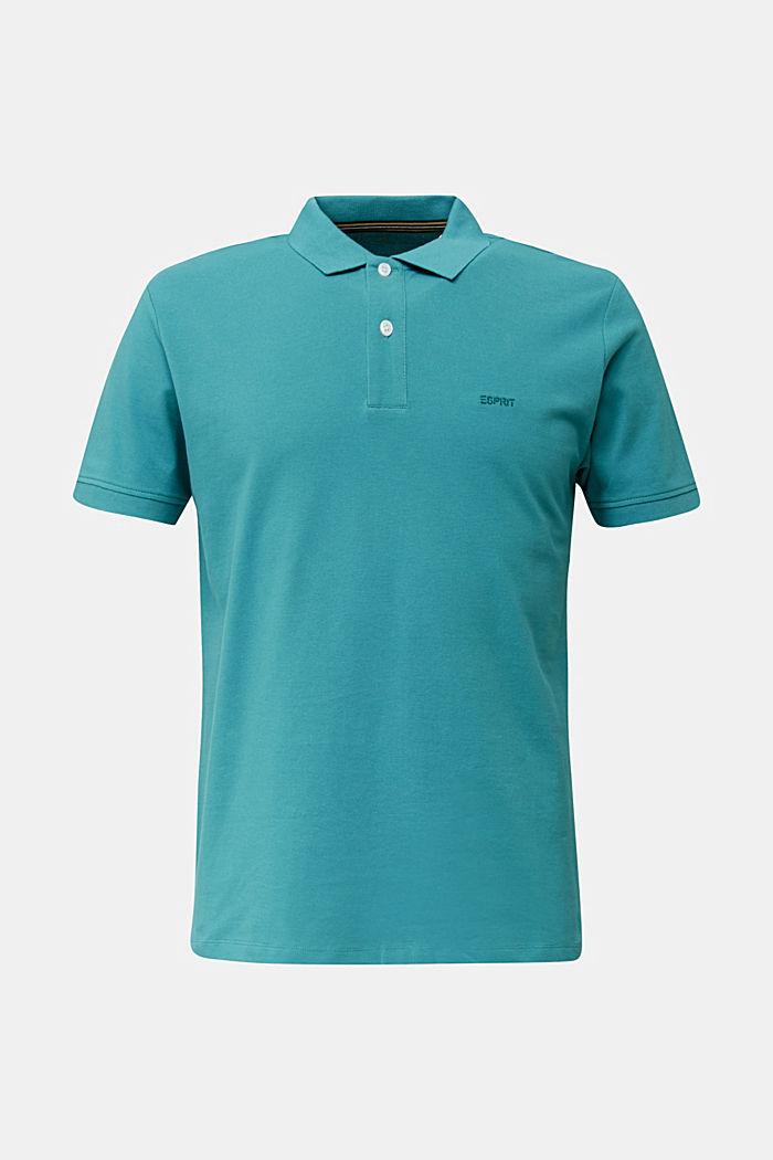 Piqué-Poloshirt, 100% Organic Cotton, TEAL BLUE, detail image number 7