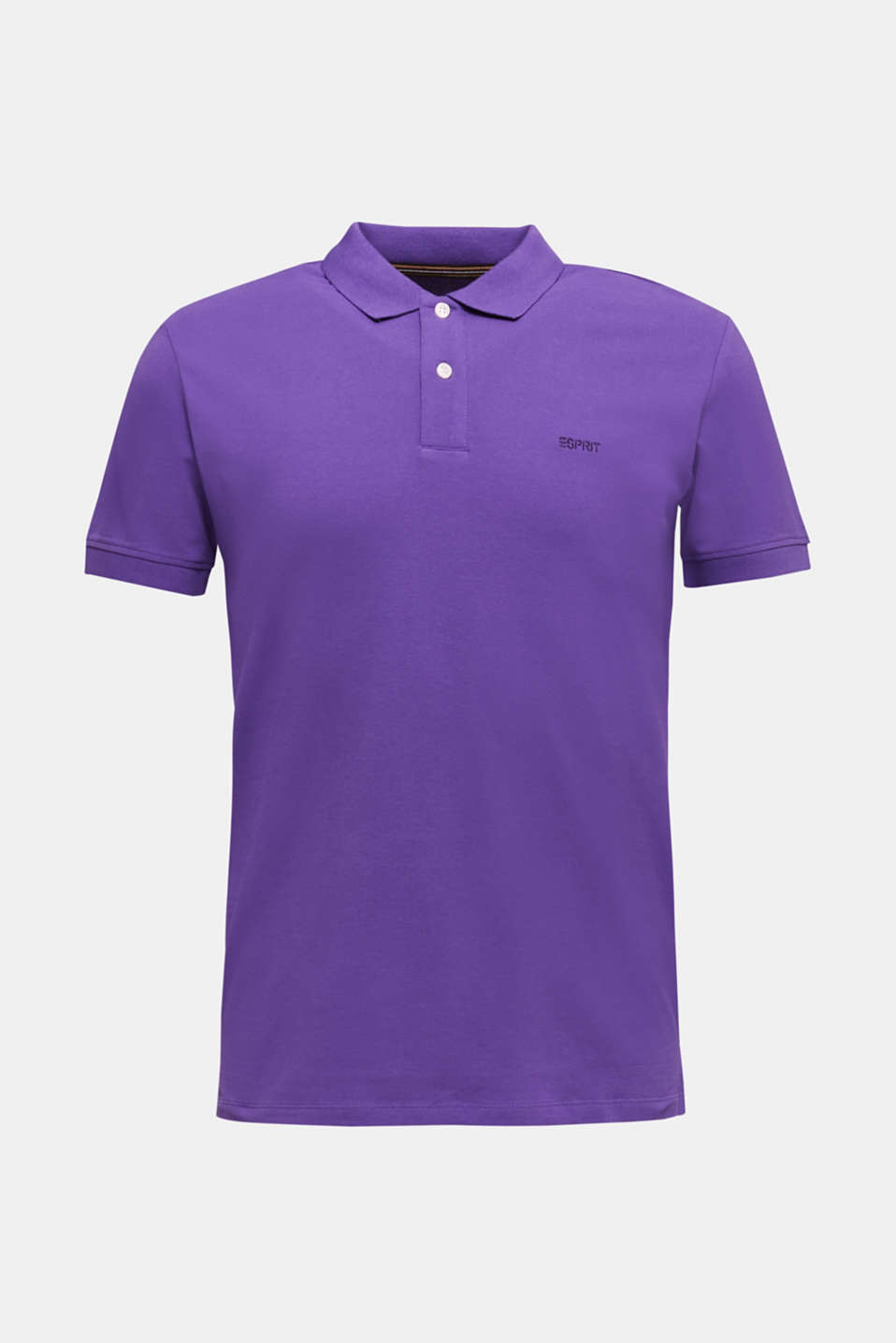 Piqué polo shirt made of 100% organic cotton, VIOLET, detail image number 6