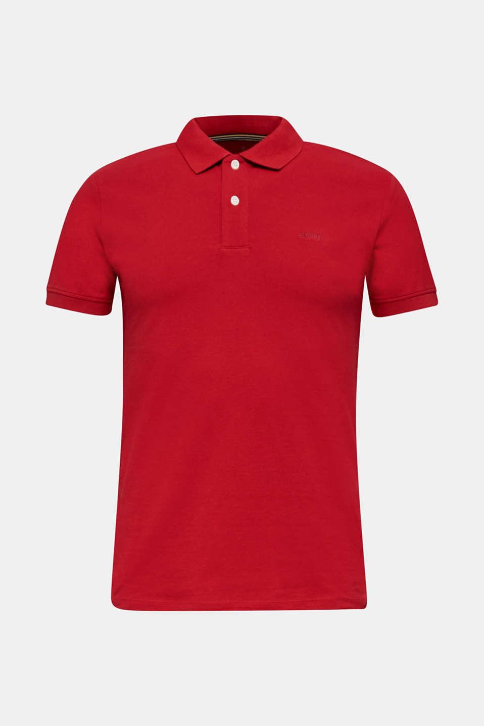 Piqué polo shirt made of 100% organic cotton, GARNET RED, detail image number 5