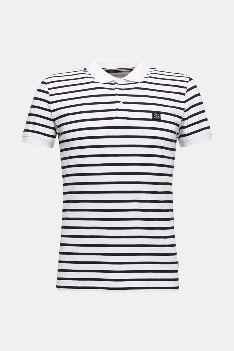 Piqué polo shirt in 100% cotton, WHITE 3, detail image number 7