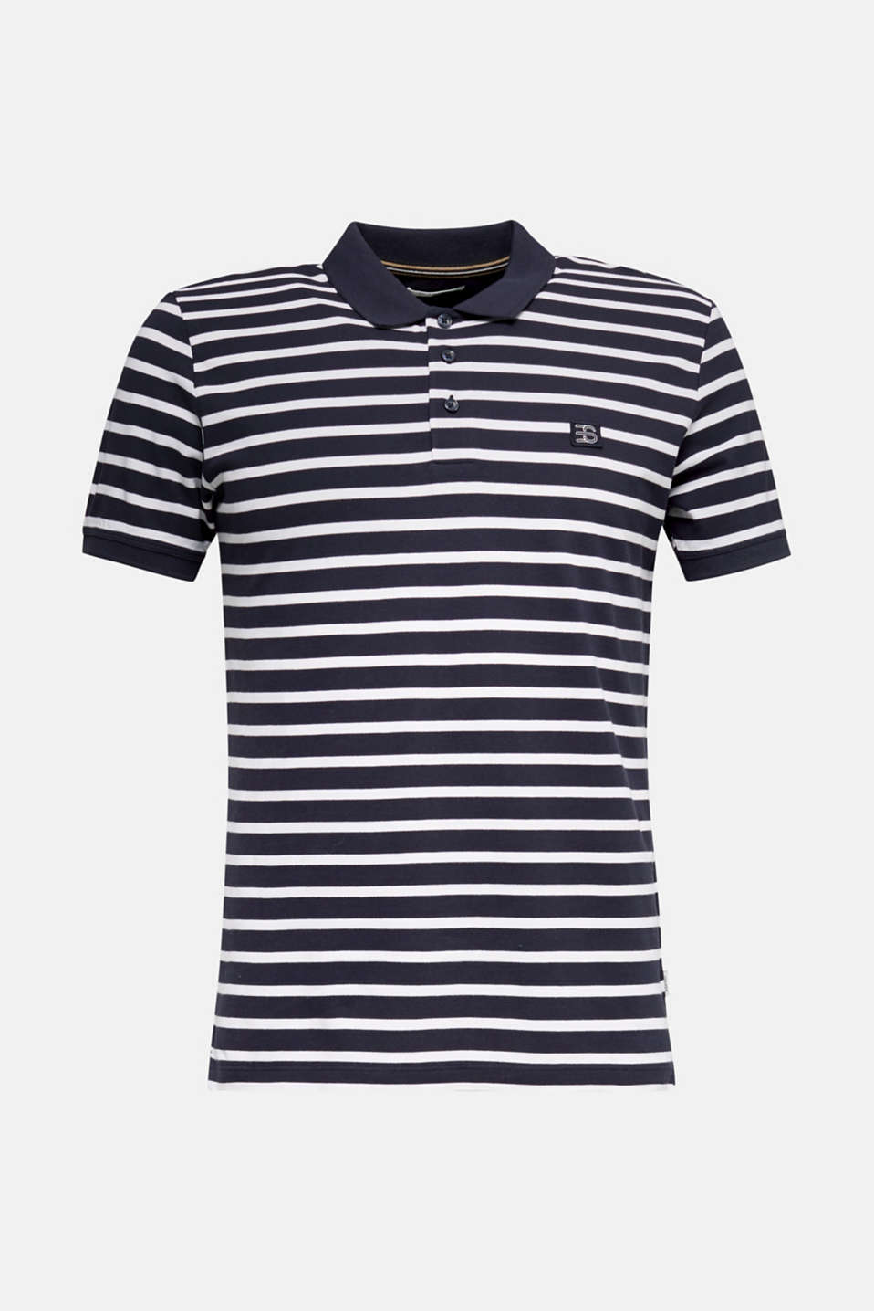 Piqué polo shirt in 100% cotton, NAVY 3, detail image number 5