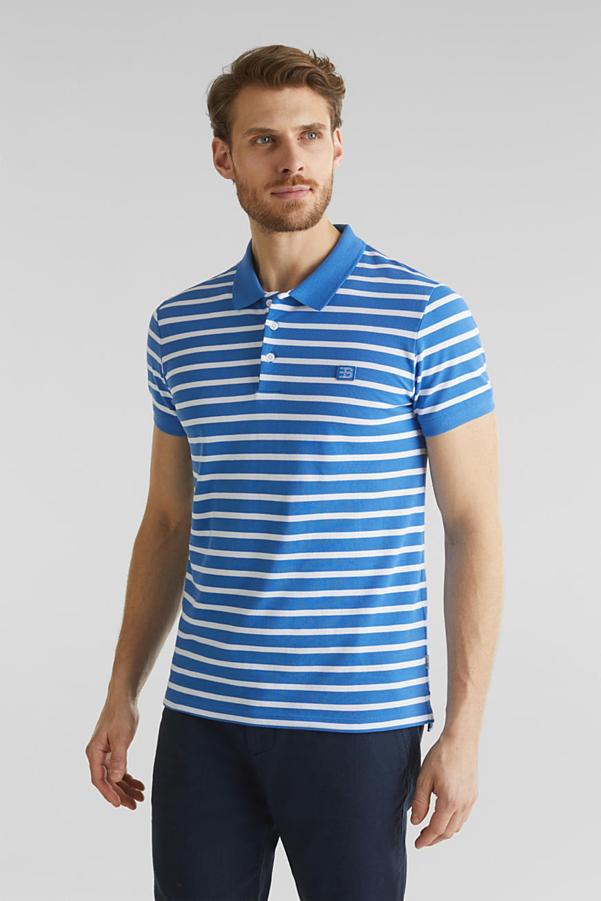 Piqué polo shirt in 100% cotton