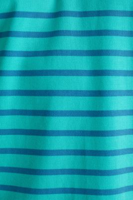 Piqué polo shirt in 100% cotton, LIGHT TURQUOISE 3, detail