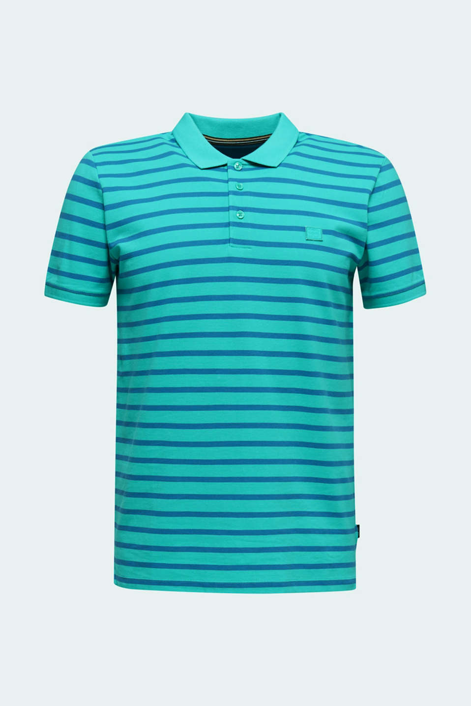 Piqué polo shirt in 100% cotton, LIGHT TURQUOISE 3, detail image number 6