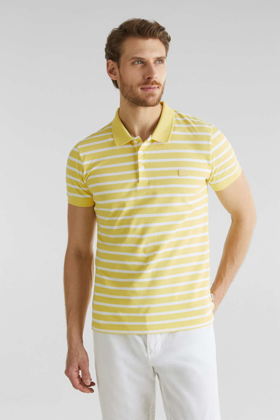 Piqué polo shirt in 100% cotton, LIGHT YELLOW 3, detail image number 0