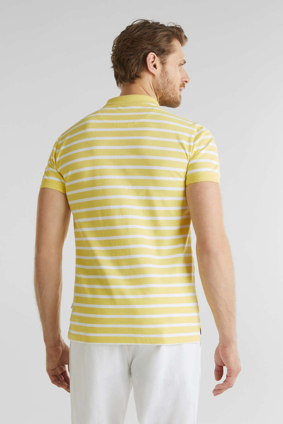 Piqué polo shirt in 100% cotton, LIGHT YELLOW 3, detail image number 3