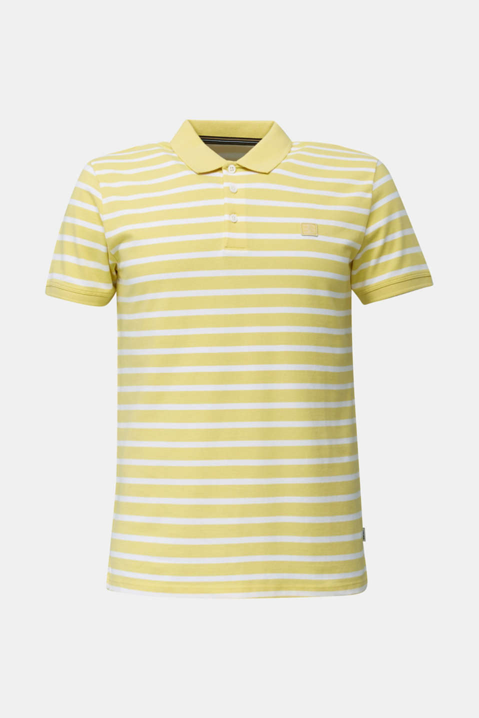 Piqué polo shirt in 100% cotton, LIGHT YELLOW 3, detail image number 7