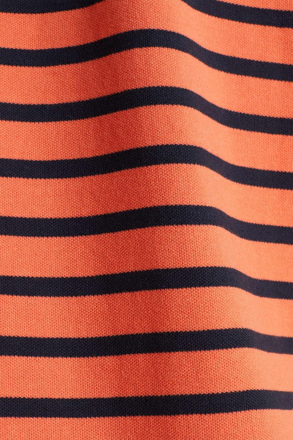 Piqué polo shirt in 100% cotton, RUST ORANGE 3, detail image number 4