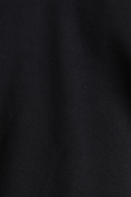Piqué polo shirt in 100% cotton, BLACK, detail