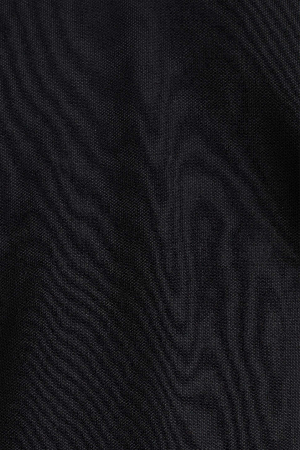 Piqué polo shirt in 100% cotton, BLACK, detail image number 5